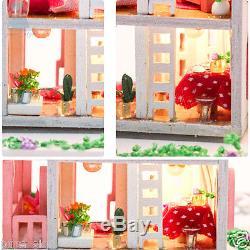 DIY Handcraft Miniature Project Kit Dolls House LED Sound Lights My Little House