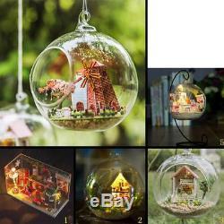 DIY Handcraft Miniature Project Kit Glass Ball Series LED Dolls House Xmas Gift