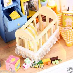 DIY Handcraft Miniature Project Kit My Baby Boy's Bedroom Wooden Dolls House