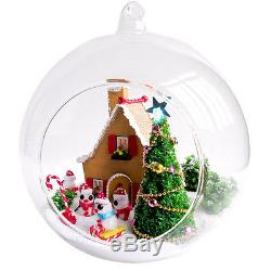 DIY Handcraft Miniature Project Kit My White Christmas House Wooden Dolls House