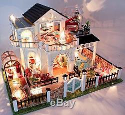 DIY Handcraft Miniature Project Kit Wooden Dolls House My Little Villa in Turkey