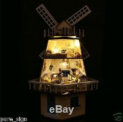 DIY Handcraft Miniature Project Kit Wooden Dolls House The Windmill Fantasy