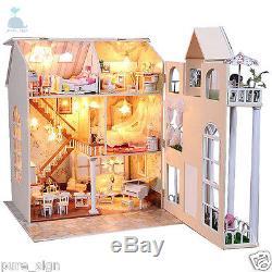DIY Handcraft Miniature Project Kit Wooden My Fairy Tale Villa Dolls House
