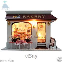 DIY Handcraft Miniature Project The Bakery Patissier Provence Wooden Dolls House