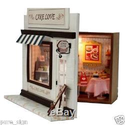 DIY Handcraft Miniature Project Wooden Dolls House European Miniature Cake Shop