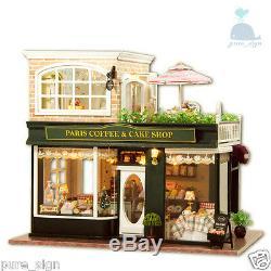 DIY Handcraft Miniature Project Wooden Dolls House My Little Coffee Shop n Paris