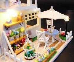 DIY Handcraft Miniature Project Wooden Dolls House My Little Pink Holiday Villa