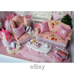 DIY Handcraft Miniature Wooden Dolls House My Little Princess' Bedroom