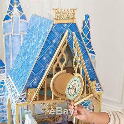Disney Princess Doll House Cinderella Dolls House 5 rooms 11pc furniture