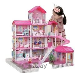 Doll House 4 Storey Mansion With 305 Accessories
