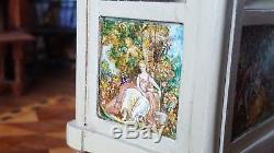 Dollhouse Artisan Miniature OOAK Janet Reyburn Hand Painted Etagere Display 112