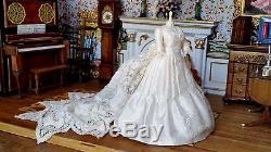 Dollhouse Artisan Taller Targioni Miniature OOAK Wedding Gown Dress Form 112