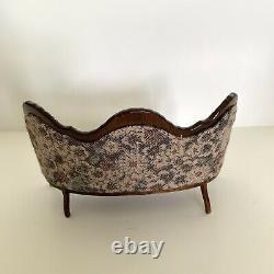 Dollhouse Furniture Living Room Victorian Floral Sofa Rocking Chair & Hutch 112
