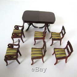 Dollhouse LYNNFIELD Sonia Messer Dining Room Table Duncan Phyfe Furniture Lot