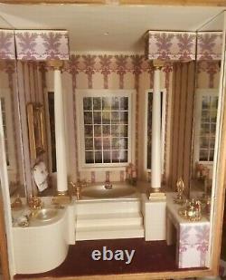 Dollhouse Miniature Artisan Class Bathroom Roombox