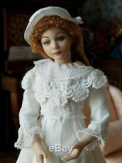 Dollhouse Miniature Artisan Doreen Sinnett Porcelain Young Lady Doll 112