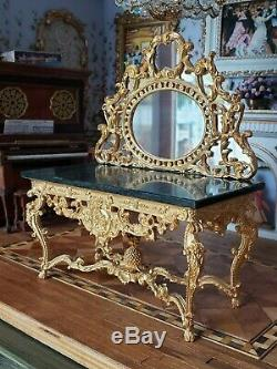 Dollhouse Miniature Artisan John J Hodgson Table & Mirror 112