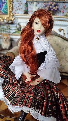 Dollhouse Miniature Artisan OOAK Character Sculpted Doll #2