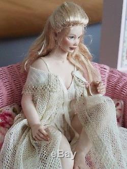 Dollhouse Miniature Artisan Susan Scogin OOAK Porcelain Doll 112