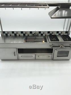 Dollhouse Miniature Artisan TYA Stainless Steel Kitchen Ceramic Backplash (R)