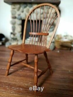 Dollhouse Miniature Artisan William Bill Clinger Windsor Chair 112 A/A