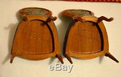 Dollhouse Miniature Chairs 112 Artist Nancy Summers Signed set of 2