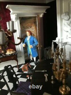 Dollhouse Miniature Ooak Palatial Room Box/diorama
