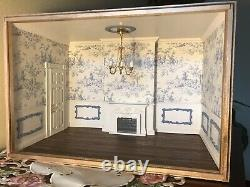 Dollhouse Miniature Room Box Display 112 Scale French Blue Artisan Made