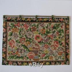 Dollhouse Miniature SALE Tapestry Black Border Handmade Taller Targioni Spain