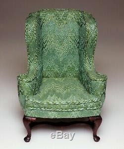 Dollhouse Miniature Signed Betty Valentine Upholstered Chair 1/12 1987