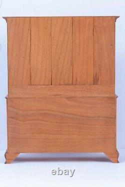 Dollhouse Miniatures IGMA Artist Mark Murphy Gorgeous Red Hutch Cabinet