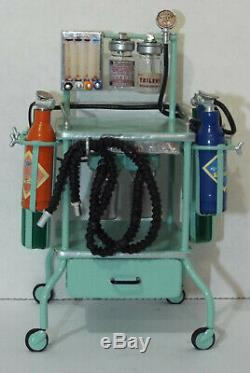 Dollhouse miniature handcrafted Medical Hospital anesthesia machine 1/12th
