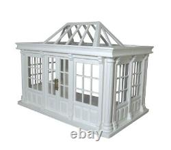 Dolls House 1/12th Scale Deluxe Conservatory Painted and Assembled DH530