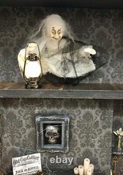 Dolls House Antique Clock Case Victorian 1900 Spooky Diorama Ghost