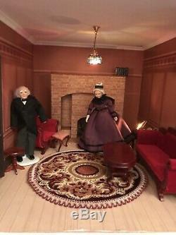 Dolls House & Contents Unique Vintage One Of A Kind Detail
