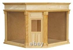 Dolls House Corner Shop Ready Made Unfinished Wood 112 Scale