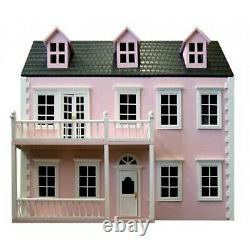 Dolls House Glenside Grange -12th Scale- Ready Painted In Pink