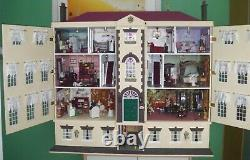 Dolls House Mansion with lights and furniture