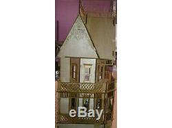Dolls House Victorian Gingerbread Farmhouse 112 Scale Lazer Cut Flat Pack Kit