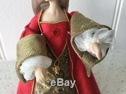Dolls house miniature 112 ARTISAN Tudor lady doll by KATY SUE