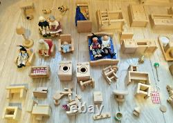 ECL / Plan Toys My First Doll's House (Large Wooden House + Many Accessories)