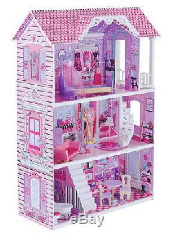 ELC Manor Dolls Doll House Luxury Wooden Toy Kids Childrens Girls Pink Playset
