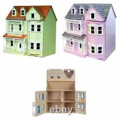Exmouth Ready To Assemble Dolls House 12th Plain Pink or Cream DH024