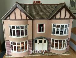 Fairbanks Dolls House 1930s-Style, Good Condition, Furnished with Working Lights
