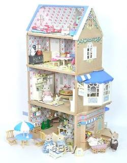 Fistuff Sylvanian Families BOXED Decorated Brambles Cafe Shop House Bundle ++