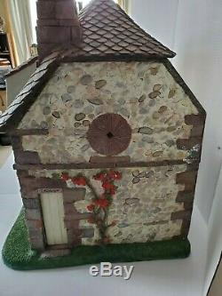Franklin Mint Dollhouse Hummingbird Garden Cottage vintage new