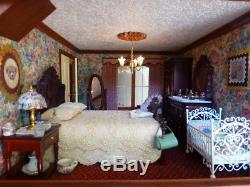 Fully furnished 1/12th scale dollshouse