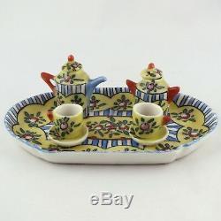 GABRIEL FOURMAINTRAUX DESVRES, Miniature SERVICE à THÉ, dinette/doll house items