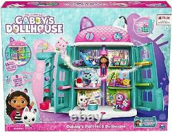 Gabby's Dollhouse, Purrfect Dollhouse with 15 Pieces Including Toy Figures
