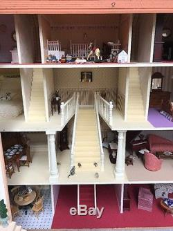 Georgian Style Dolls House, Conservatory, Green House, Fruit Stall Plus More